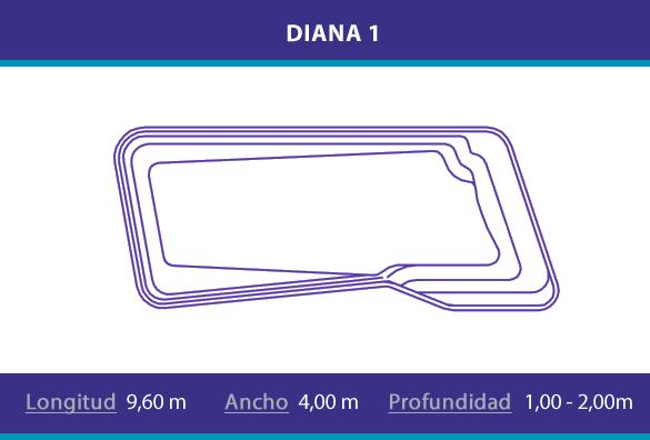 Piscina de poliester modelo Diana 1