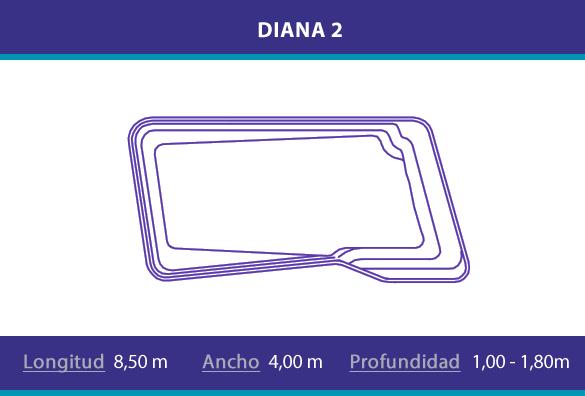 Piscina de poliester modelo Diana 2