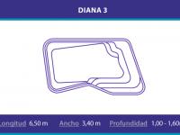 Piscina de poliester modelo Diana 3