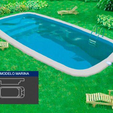 Piscina de Poliester Modelo Marina